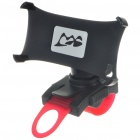 Plastic Bicycle Bike Swivel Mount Holder for Iphone 4 - Black (360 Degree)