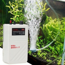 Aquarium Air Pump Single Outlet Silent Fish Tank Battery Operated Oxygen Pump Aerator Compressor Fishing Air Pump M/White