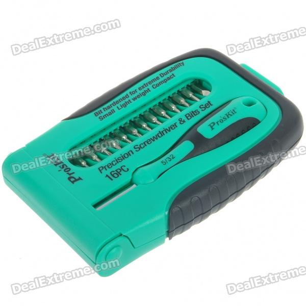 15-in-1 Precision Screwdrivers Set - Green + Black + Silver - DXScrewdrivers<br>With this multi bit screwdrivers you can loosen and fasten almost any kinds of screws - All screw tips are detachable and can be customized to your needs - Designed for you to apply torque easily - Package includes: - Standard screwdriver tips: 1.5/2.0/2.5/3.0/4.0mm - Cross slot screwdriver tips: PH000/PH00/PH0/PH1 - Torx screwdriver tips: T5/T6/T7/T8/T9 - 2 X adapter socket - 1 x plastic organizer box<br>