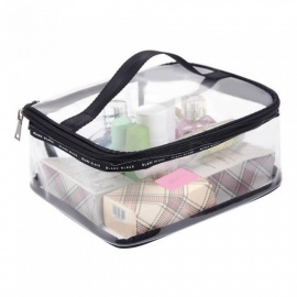 PVC Transparent Cosmetic Bags Women's travel Waterproof Clear Wash Organizer Pouch Beauty Makeup Case Accessories Supplies L Transparent Bag
