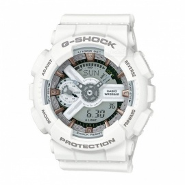Casio G-Shock GMA-S110CM-7A2 S Series Ana-Digi Watch - White + Rose Gold