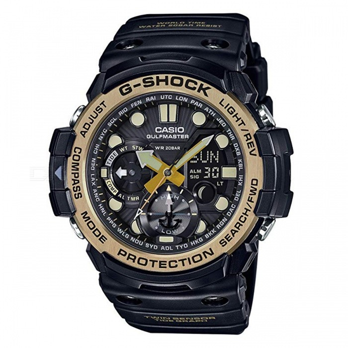 Casio G-Shock GN-1000GB-1A Gulfmaster Master of G Series Watch - Black +  Gold - Free Shipping - DealExtreme 3fcf884a5