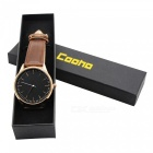 Cooho C07 Men's Watch Business Trend Simple All Match Quartz Wriswatch - Brown