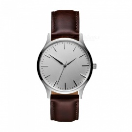 Cooho C07 Men's Watch Business Trend Simple All Match Quartz Wriswatch - Coffee