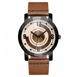 Cooho C10 Women's Wrist Watch Creative Design Retro All Match Fashion Casual Quartz Watch - Brown