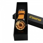 Cooho C10 Women's Wrist Watch Creative Design Retro All Match Fashion Casual Quartz Watch - Yellow
