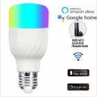 P-TOP Color-Changing RGB Smart Light Bulb, APP Remote Control LED Smart Wi-Fi Bulb for Google Home Alex Echo