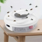 P-TOP USB Automatic Fly-Catcher, Electric Extinguishes Flies Artifact - White