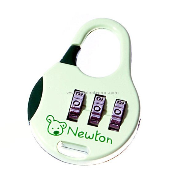 Cute Metal Combination Pad-lock (Green)