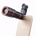 Mobile Phone Camera Lens, 12X Zoom Telephoto Lens, External Telescope With Universal Clip For Smartphones Black