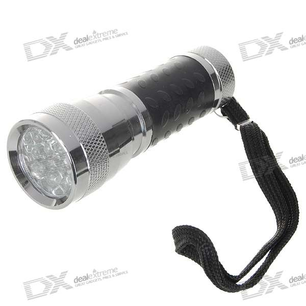 14-LED Rubberized Grip Flashlight (3xAAA)