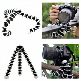 Large Octopus Flexible Tripod Stand Gorillapod for Phone Telefon Mobile Phone Smartphone DSLR and Camera Table Desk Mini Tripod Black and White
