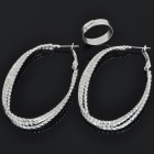 Elegant Earrings + Opening Ring Jewelry Set (10-Set Pack)