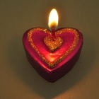 Creative Love Heart Shaped Candle Set - Random Color (3-Piece Pack)