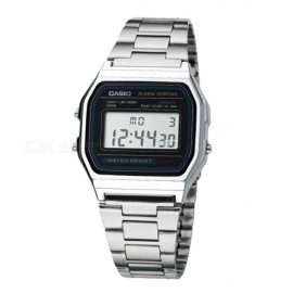 Casio A158WA-1 Men's Digital Watch - Silver & Black (Without Box)
