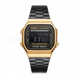 Casio A168WEGB-1B Vintage Series Standard Digital Watch - Black & Gold (Without Box)