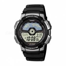 Casio AE-110W-1A Standard Digital Sporty Design Watch - Black & Silver(Without Box)