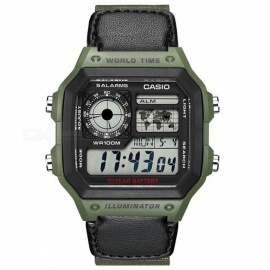 Casio AE-1200WHB-3B Standard Digital Watch - Black/Olive(Without Box)