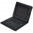 Bluetooth 2.0 Wireless Keyboard with Protective PU Leather Case for Apple iPad - Black