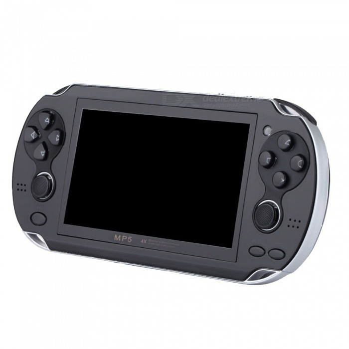 KICCY MP5 Handheld Game Player, Large Screen Portable Game Console - Black