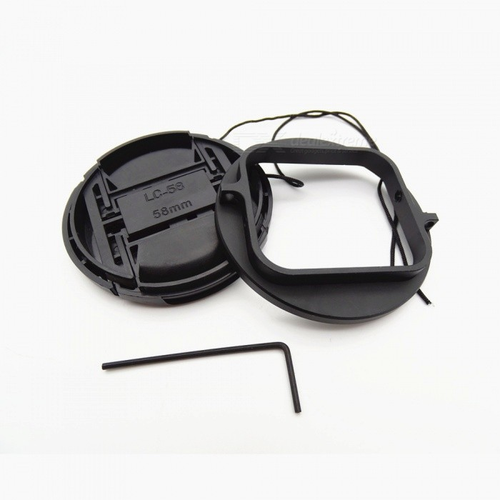 58mm UV CPL FLD Filter Lens Set with Adapter Ring for GoPro Hero 5 / 6 - Black