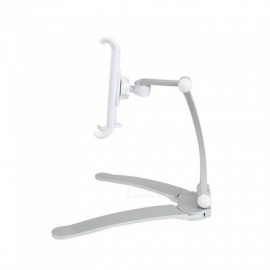 JEDX 2 in 1 Tablet Bracket Stand Holder for IPAD Pro 10.5 9.7 Air 2/1, Mini Lazy Desk Phone Mount for IPHONE X Xiaomi - Silver