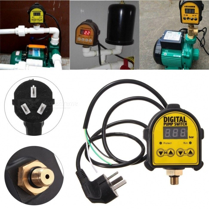 Mayitr Digital Automatic Air Pump Water Oil Compressor Pressure Switch Controller for Water Pump Pressure Switch Controller