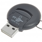 Ultra Mini USB 2.0 Micro SD/TF Card Reader - Black (Support 1~16GB)