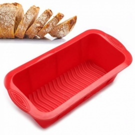 3D Bread Pan Best Bakeware for Baking Loaf and Large Cakes Commercial Grade Non-Stick Silicone Mould Baking Dishes & Pans Red
