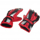 Warm Ski Gloves for Children - Red + Black (Pair)