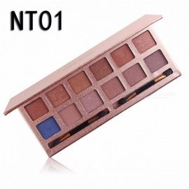 Miss Rose 12 Colors Eyeshadow Palette Professional Matte EyeShadow Naked Palette Glitter Eye Shadow MakeUp Cosmetics Blue