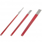 Professional Pedicure Kit - Red + Silver (3-Piece Pack)