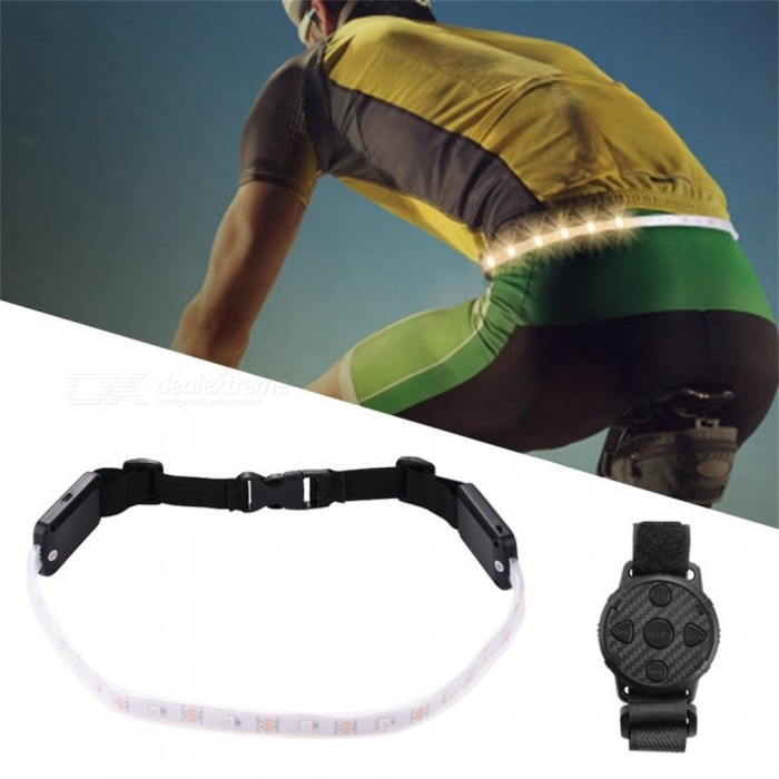 YWXLight Wireless Remote Control 4-Mode LED Riding Light Night, Running Belt Safety Warning Light