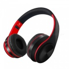 XSUNI Wearable Wireless Stereo Music Headphone, Foldable Computer Sports Bluetooth Headset - Red