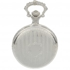 Vintage Metal Pocket Quartz Watch with Chains - Silver (1*377)