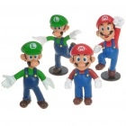 Cute Super Mario Resin Anime Figures (12-Figure Set)