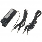 Compact Audio & Call Hands-Free FM Transmitter for Car w/ Microphone - Black (1*AAA)