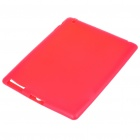 Protective Silicone Back Case for Ipad 2 - Red