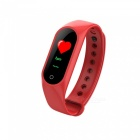 M3 Color Screen Smart Sports Watch Bracelet with Blood Pressure / Oxygen / Heart Rate Monitoring - Red