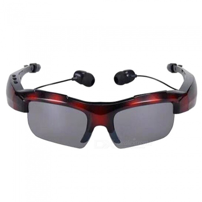 KELIMA Car Bluetooth Glasses, High Quality Stereo Bluetooth Sunglasses, Support Calls - Red