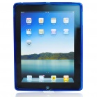 Protective Rubber Gel Silicone Back Case for Ipad 2 - Deep Blue
