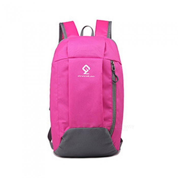 ZHAOYAO Outdoor Travel Camping Daily Sports Backpack, Portable Folding Sports Bag - Rose Red