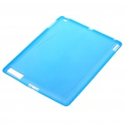 Protective Rubber Gel Silicone Back Case for Ipad 2 - Light Blue