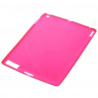 Protective Rubber Gel Silicone Back Case for Ipad 2 - Rose Red