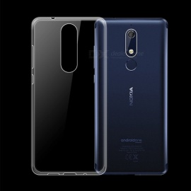 Dayspirit Ultra-Thin Protective TPU Back Case for Nokia 5.1 - Transparent