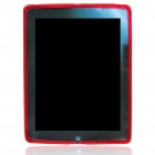 Protective Rubber Gel Silicone Back Case for Ipad 2 - Red