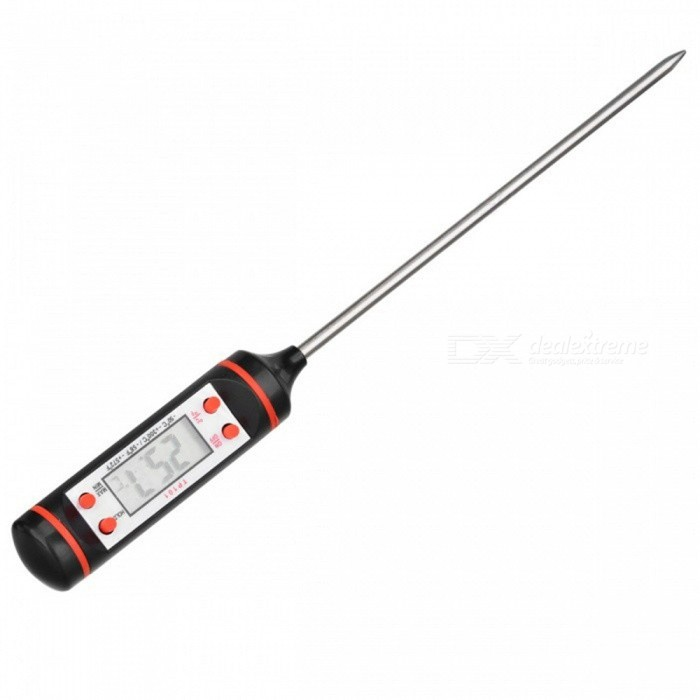OJADE Portable Digital Kitchen Probe Thermometer with LCD Display for Food Cooking BBQ Meat Steak Turkey Wine