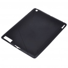 Protective Rubber Gel Silicone Back Case for Ipad 2 - Black