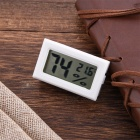 OJADE Mini Portable Digital LCD Humidity / Thermometer / Hygrometer Meter - White