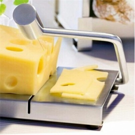 Stainless Steel Wire Making Cheese Slicer Butter Cutter Dessert Blade Kitchen Cooking Bake Tool Silver